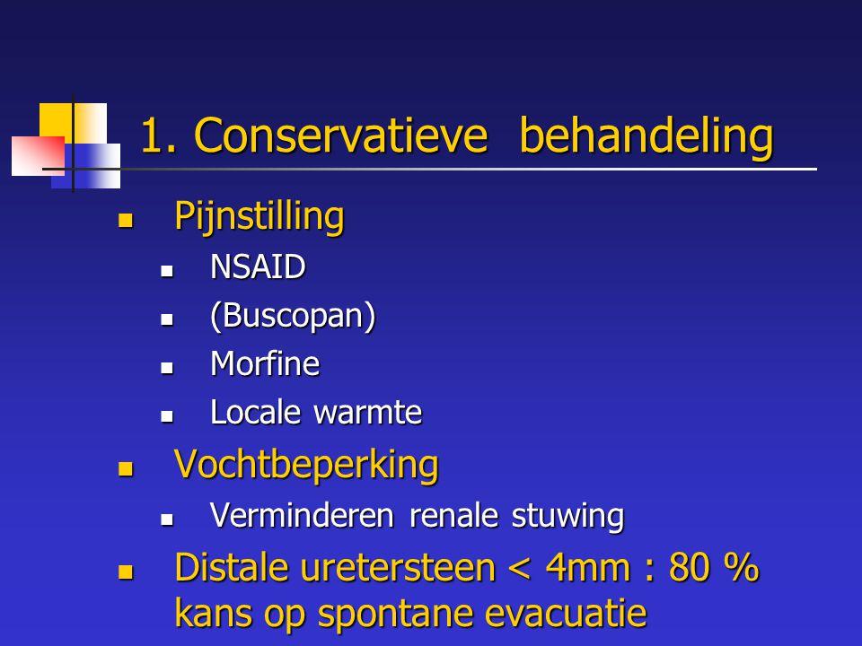 1. Conservatieve behandeling