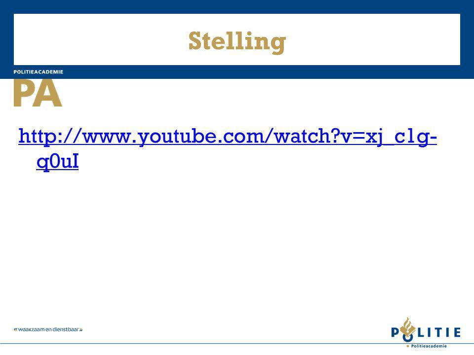Stelling http://www.youtube.com/watch v=xj_c1g-q0uI