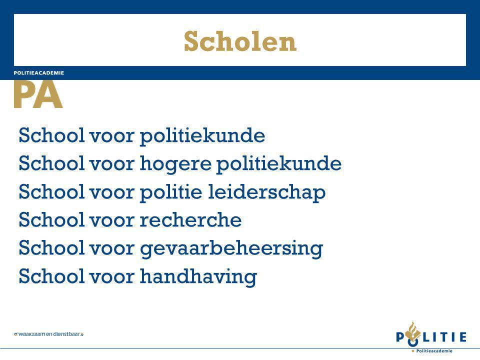 Scholen School voor politiekunde School voor hogere politiekunde