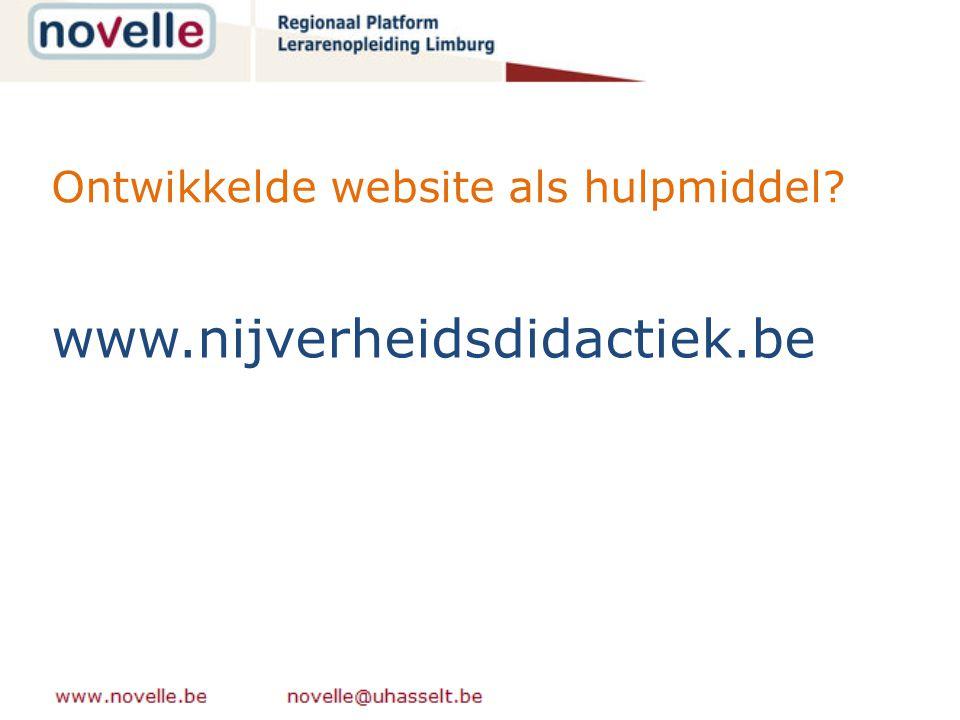 Ontwikkelde website als hulpmiddel