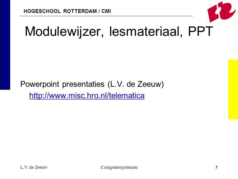 Modulewijzer, lesmateriaal, PPT