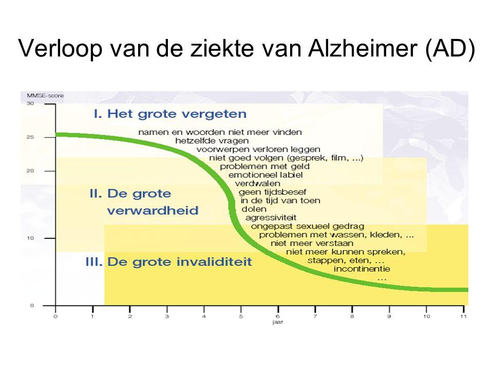 Verloop van de ziekte van Alzheimer (AD)