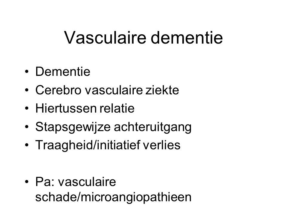 Vasculaire dementie Dementie Cerebro vasculaire ziekte