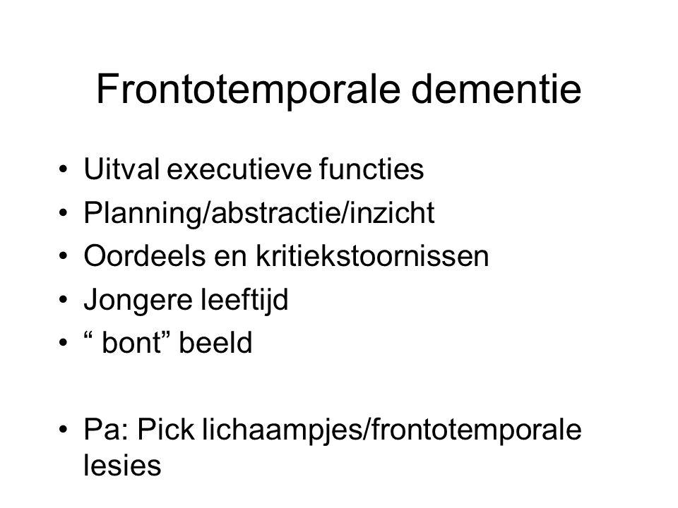 Frontotemporale dementie