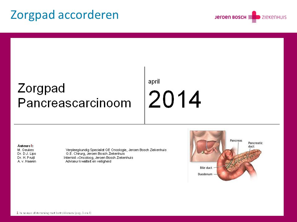 Zorgpad accorderen