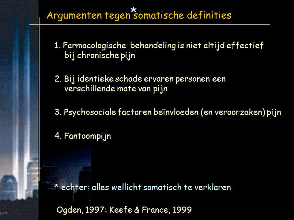 * Argumenten tegen somatische definities