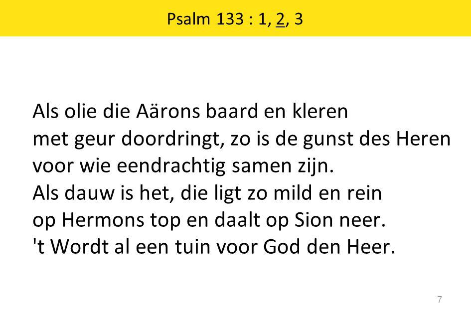 Psalm 133 : 1, 2, 3