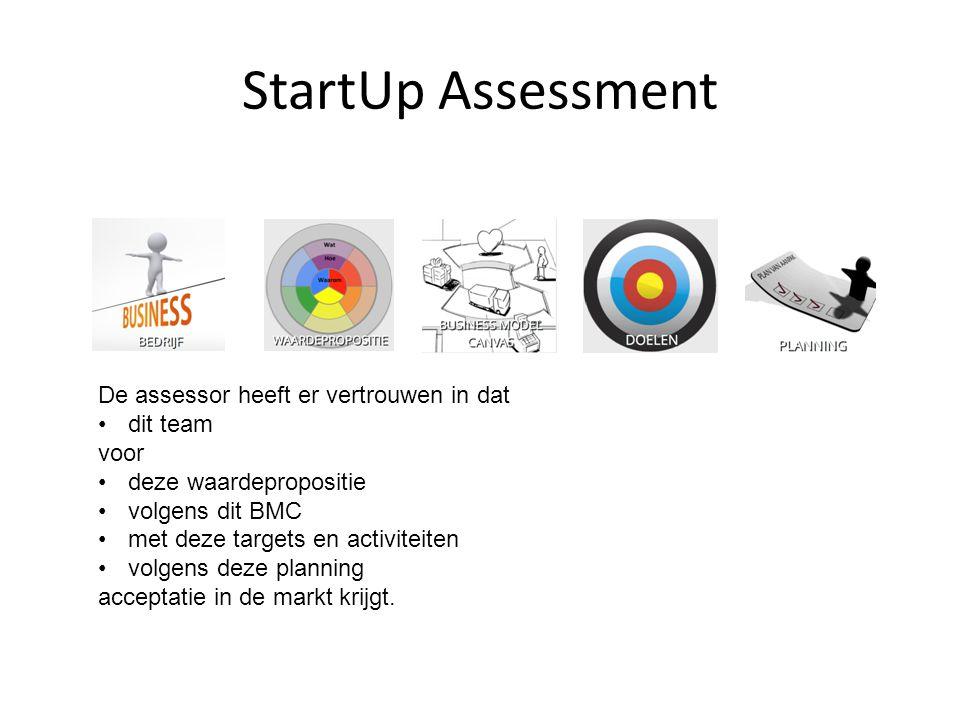StartUp Assessment De assessor heeft er vertrouwen in dat dit team