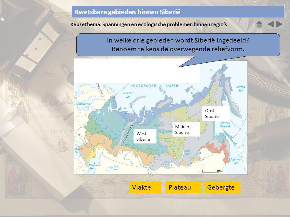 Kwetsbare gebieden binnen Siberië