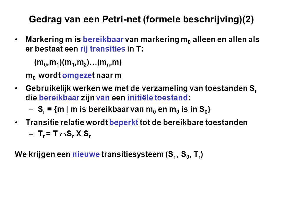 Gedrag van een Petri-net (formele beschrijving)(2)