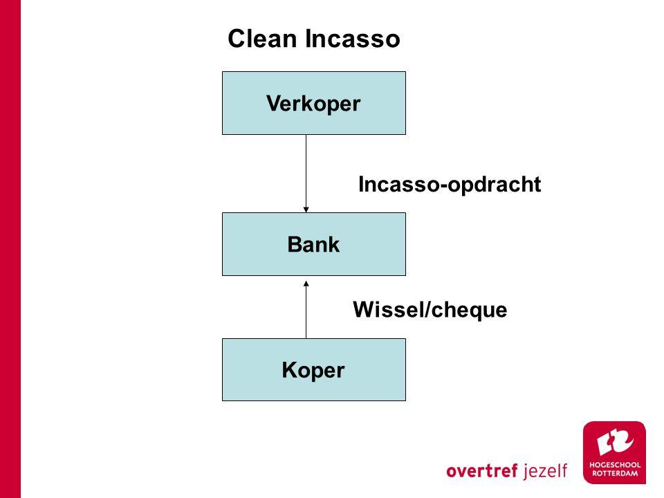 Clean Incasso Verkoper Incasso-opdracht Bank Wissel/cheque Koper