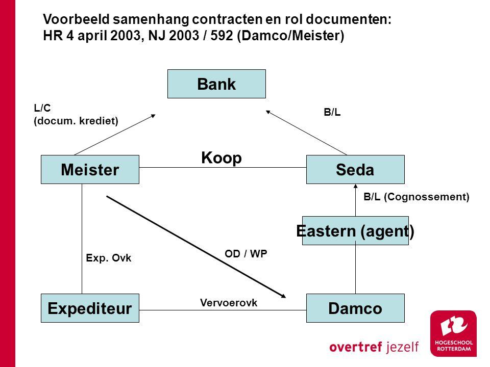 Bank Meister Seda Expediteur Damco Eastern (agent)