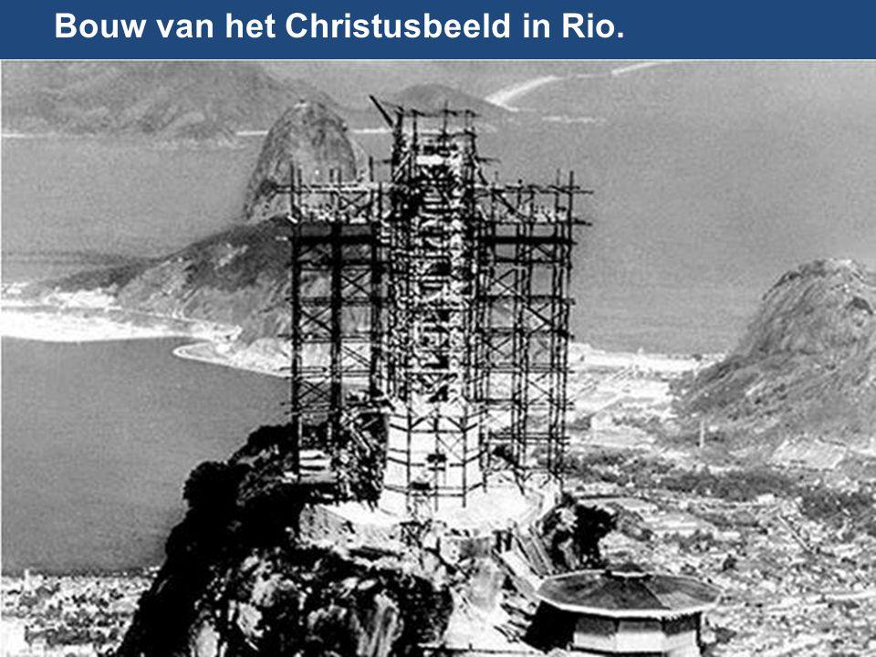 Bouw van het Christusbeeld in Rio.