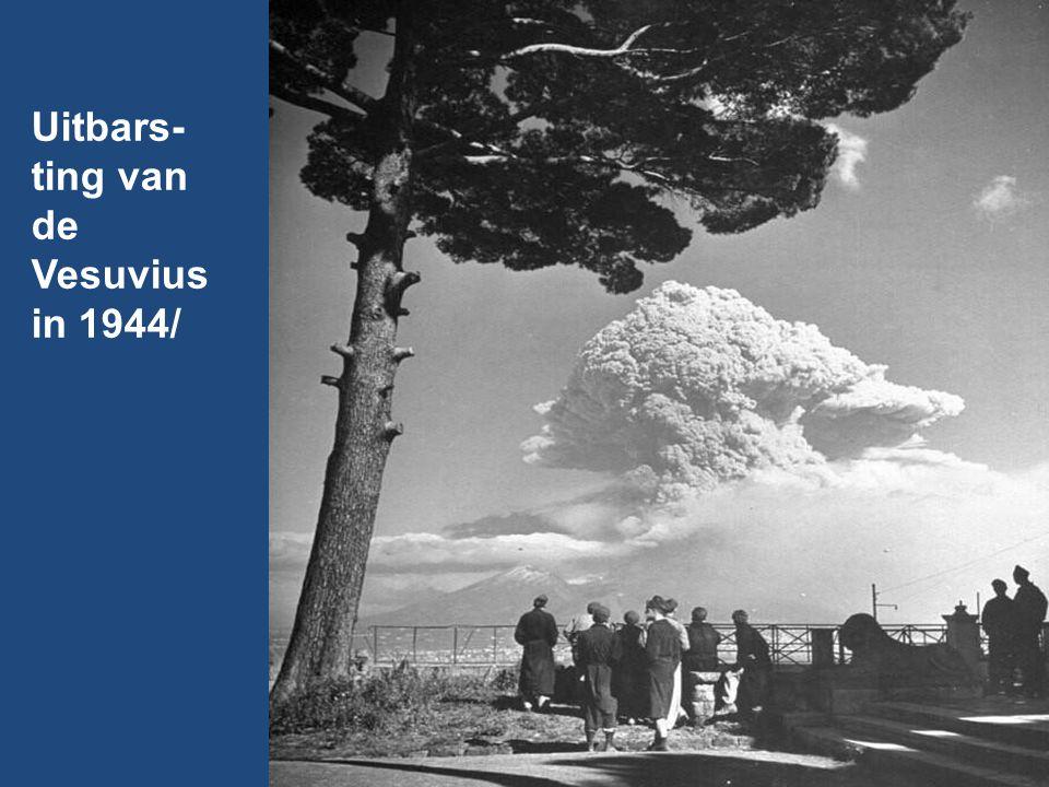 Uitbars-ting van de Vesuvius in 1944/