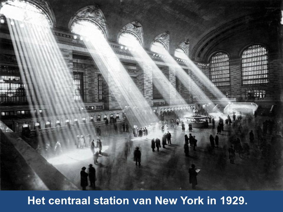 Het centraal station van New York in 1929.
