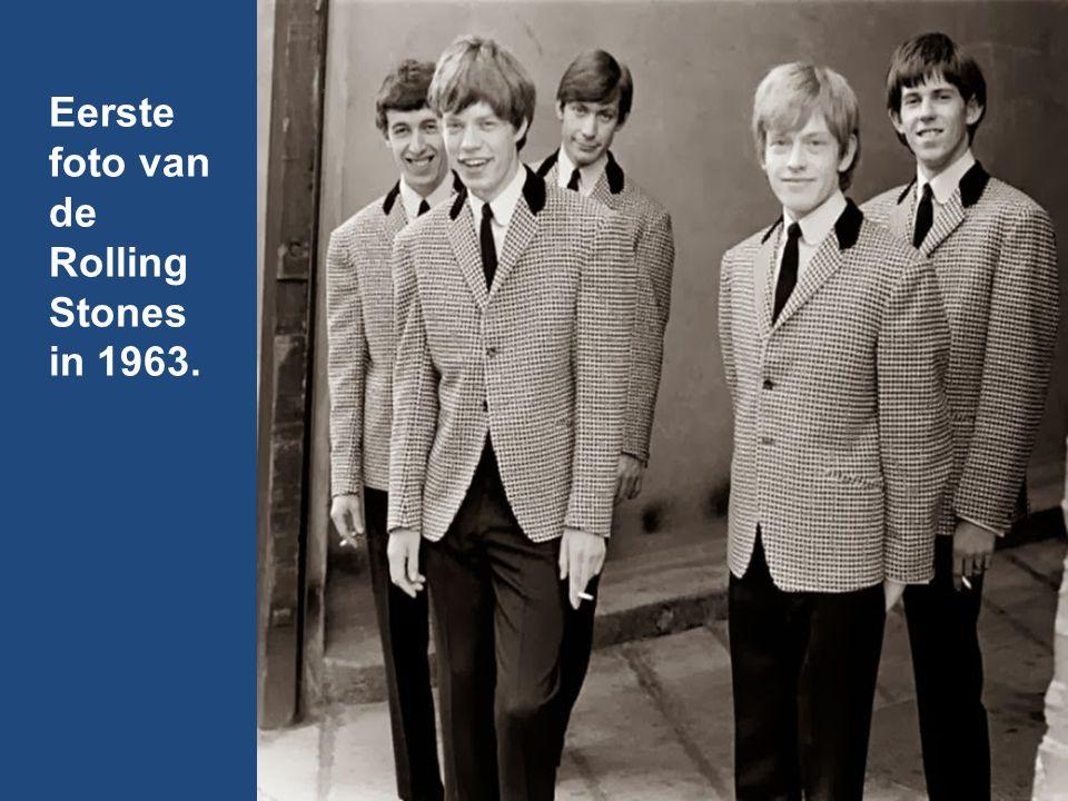 Eerste foto van de Rolling Stones in 1963.