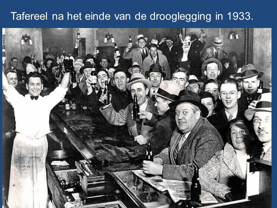 Tafereel na het einde van de drooglegging in 1933.