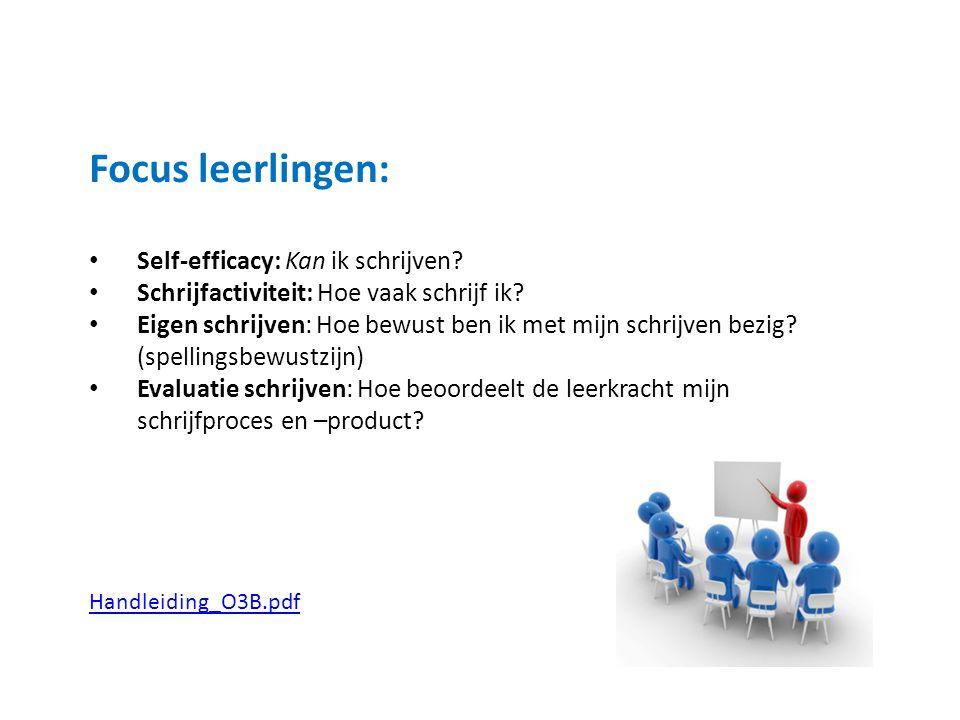 Focus leerlingen: Self-efficacy: Kan ik schrijven