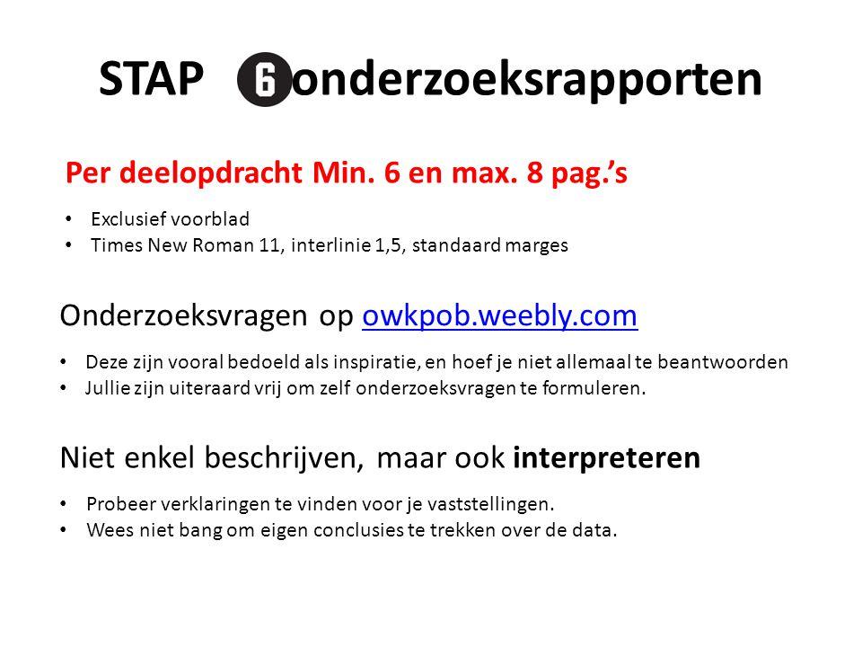 STAP : onderzoeksrapporten