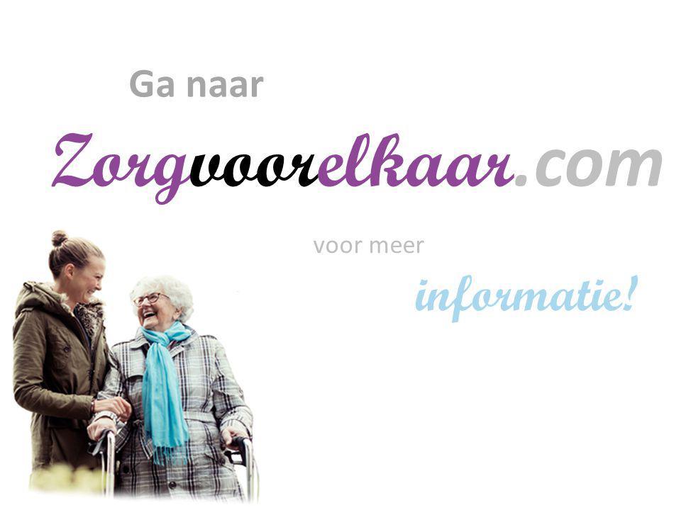 Ga naar Zorgvoorelkaar.com voor meer informatie! Bingo