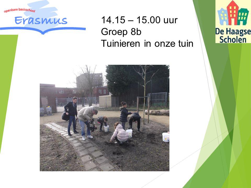 14.15 – 15.00 uur Groep 8b Tuinieren in onze tuin