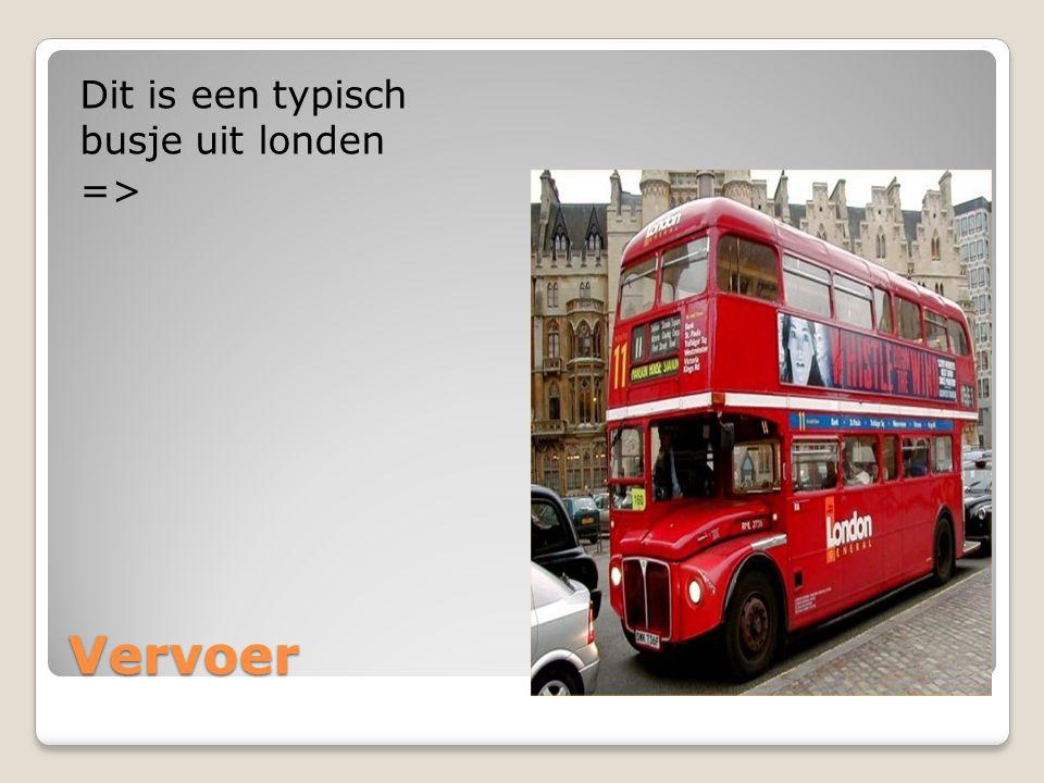 Vervoer Dit is een typisch busje uit londen =>