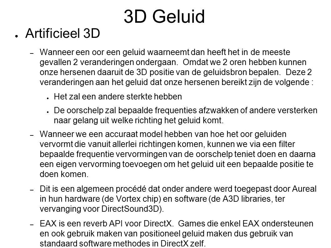 3D Geluid Artificieel 3D.