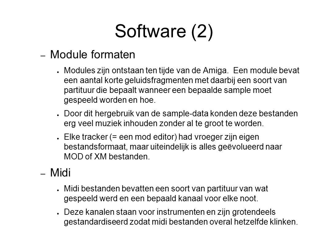 Software (2) Module formaten Midi