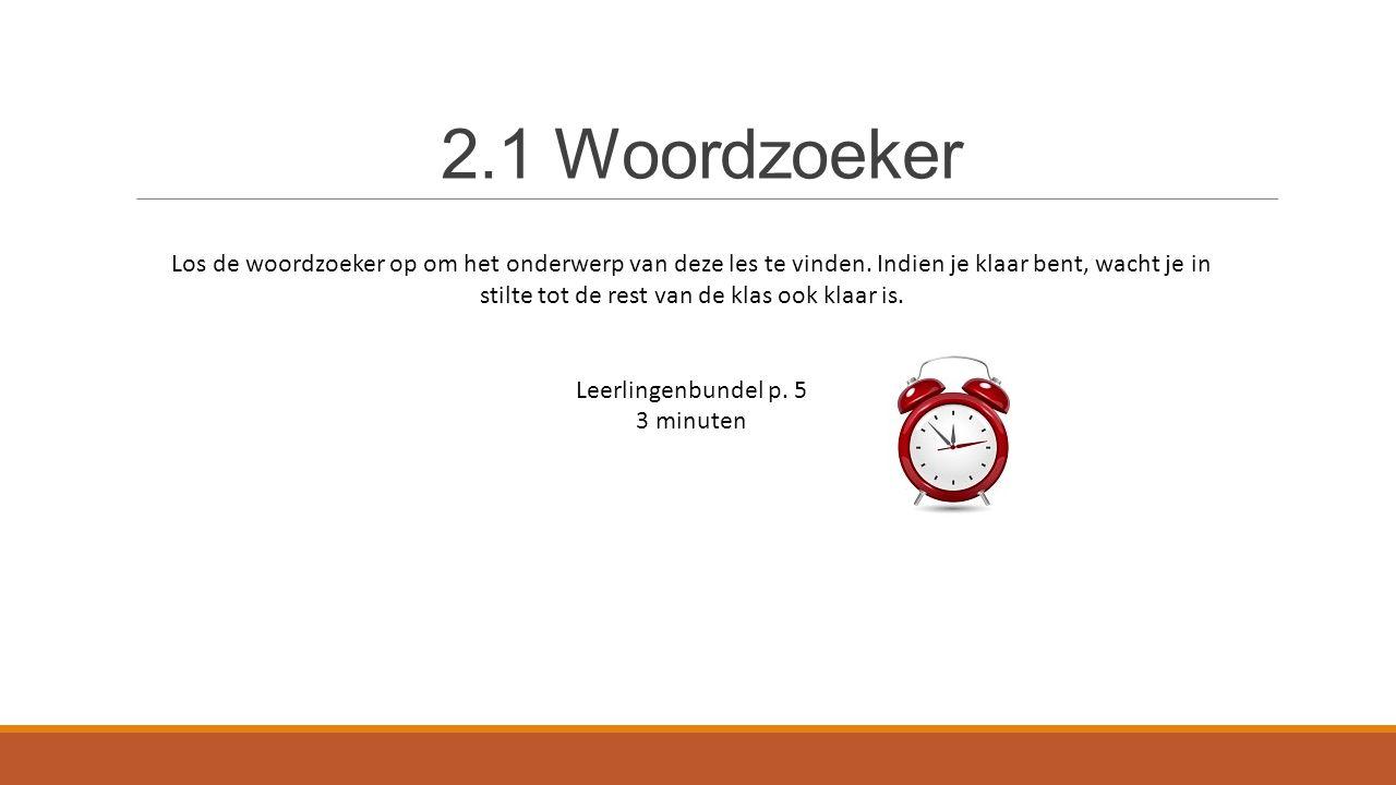2.1 Woordzoeker