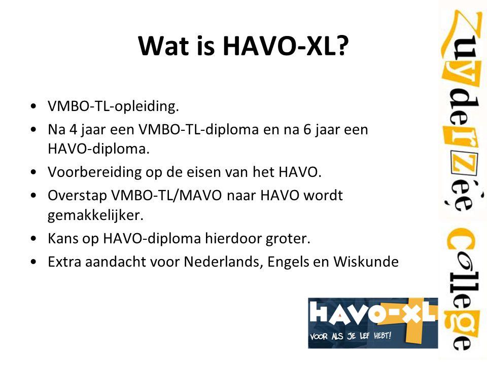 Wat is HAVO-XL VMBO-TL-opleiding.