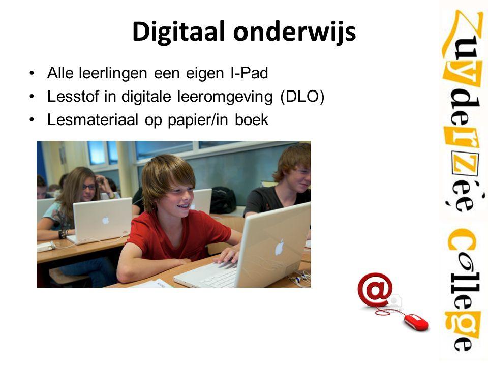 Digitaal onderwijs Alle leerlingen een eigen I-Pad