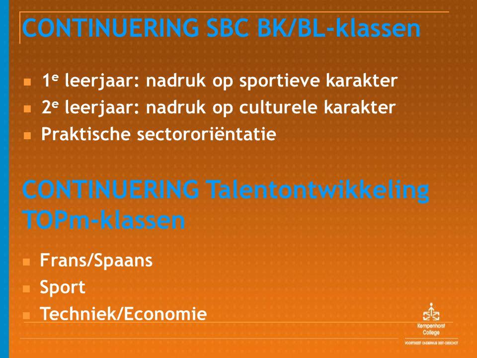 CONTINUERING SBC BK/BL-klassen