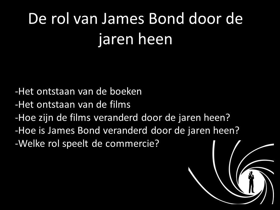 De rol van James Bond door de jaren heen