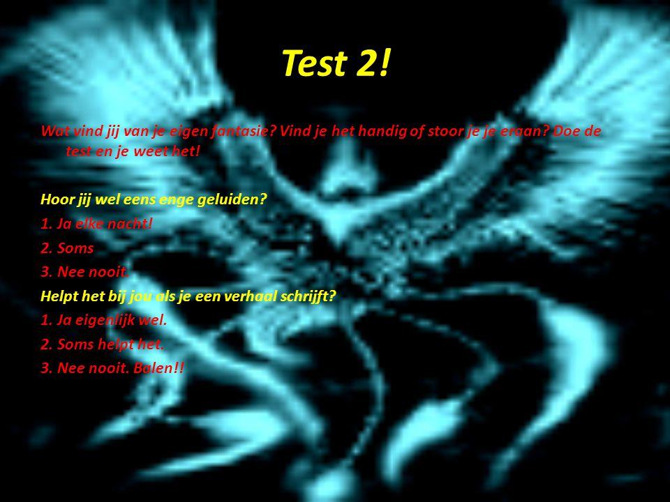 Test 2! Wat vind jij van je eigen fantasie Vind je het handig of stoor je je eraan Doe de test en je weet het!