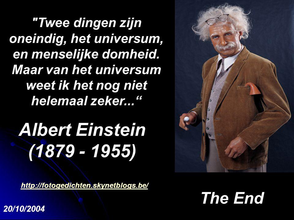Albert Einstein (1879 - 1955) The End