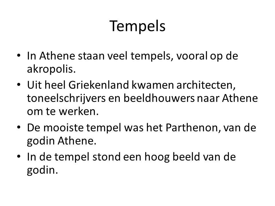 Tempels In Athene staan veel tempels, vooral op de akropolis.