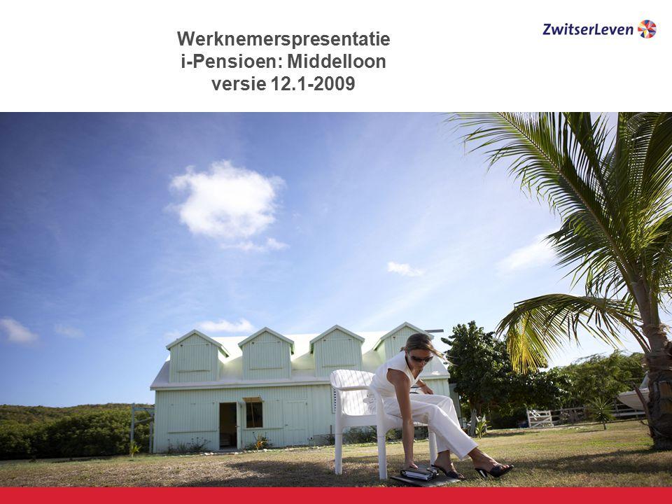 Werknemerspresentatie i-Pensioen: Middelloon versie 12.1-2009