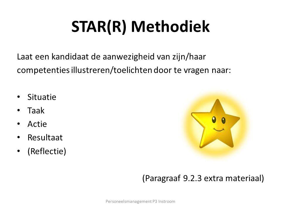 Personeelsmanagement P3 Instroom