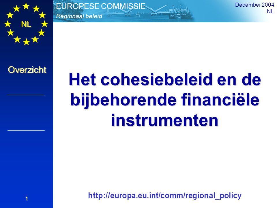 Het cohesiebeleid en de bijbehorende financiële instrumenten
