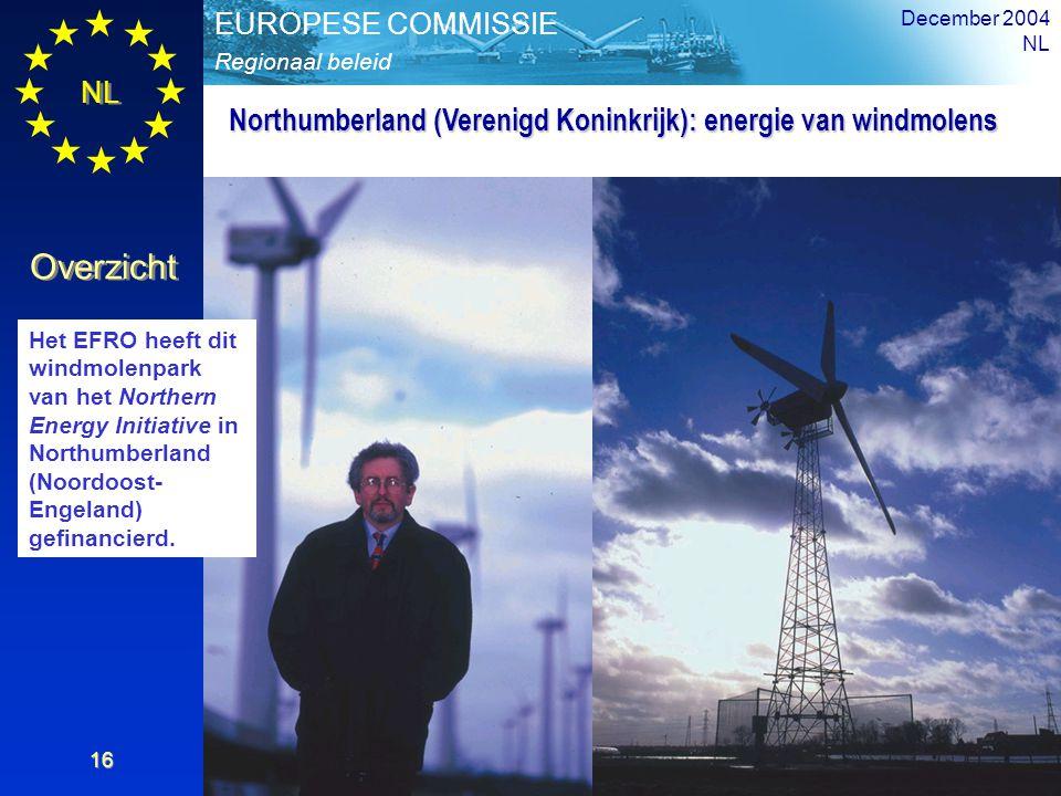 Northumberland (Verenigd Koninkrijk): energie van windmolens