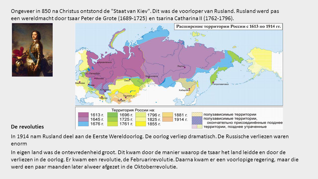 Ongeveer in 850 na Christus ontstond de Staat van Kiev