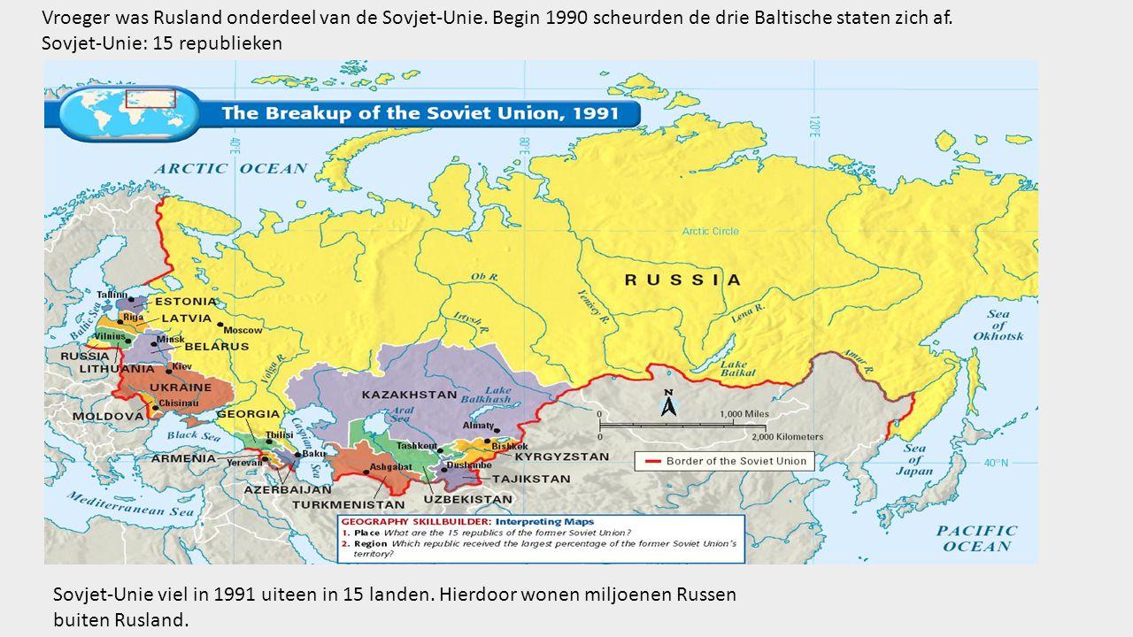 Vroeger was Rusland onderdeel van de Sovjet-Unie