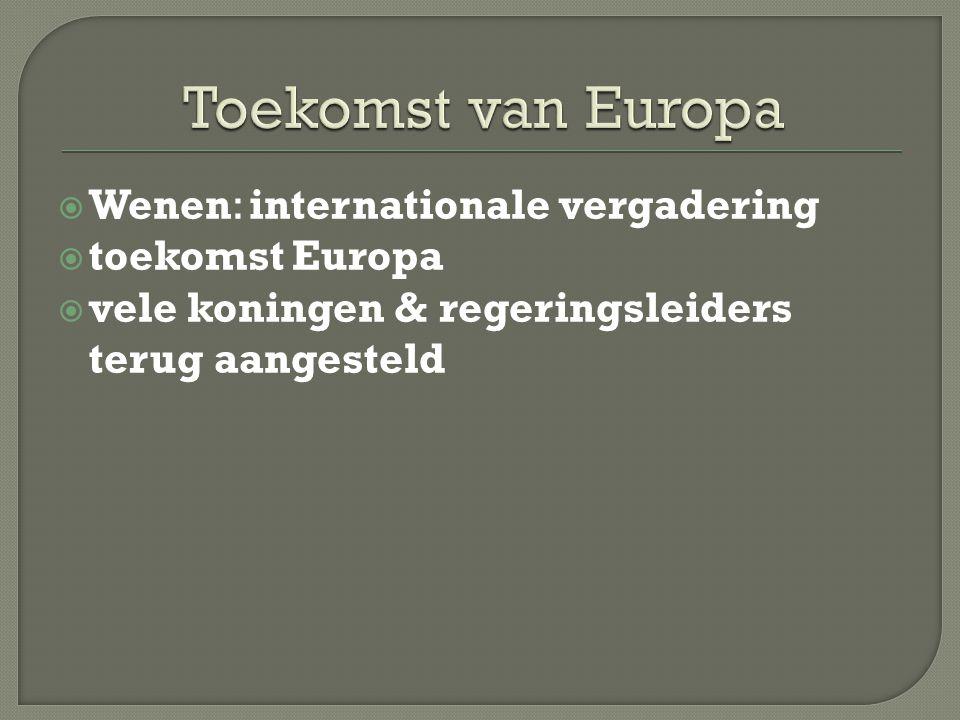 Toekomst van Europa Wenen: internationale vergadering toekomst Europa
