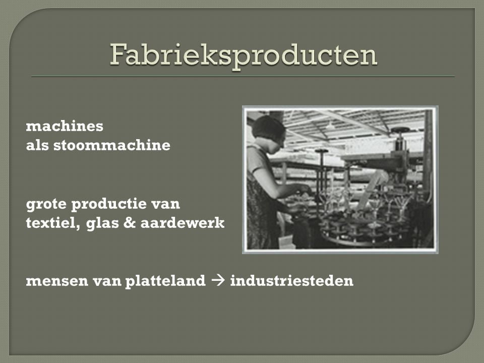 Fabrieksproducten machines als stoommachine grote productie van