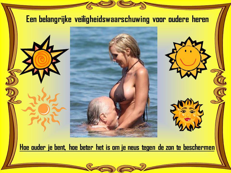 Een belangrijke veiligheidswaarschuwing voor oudere heren