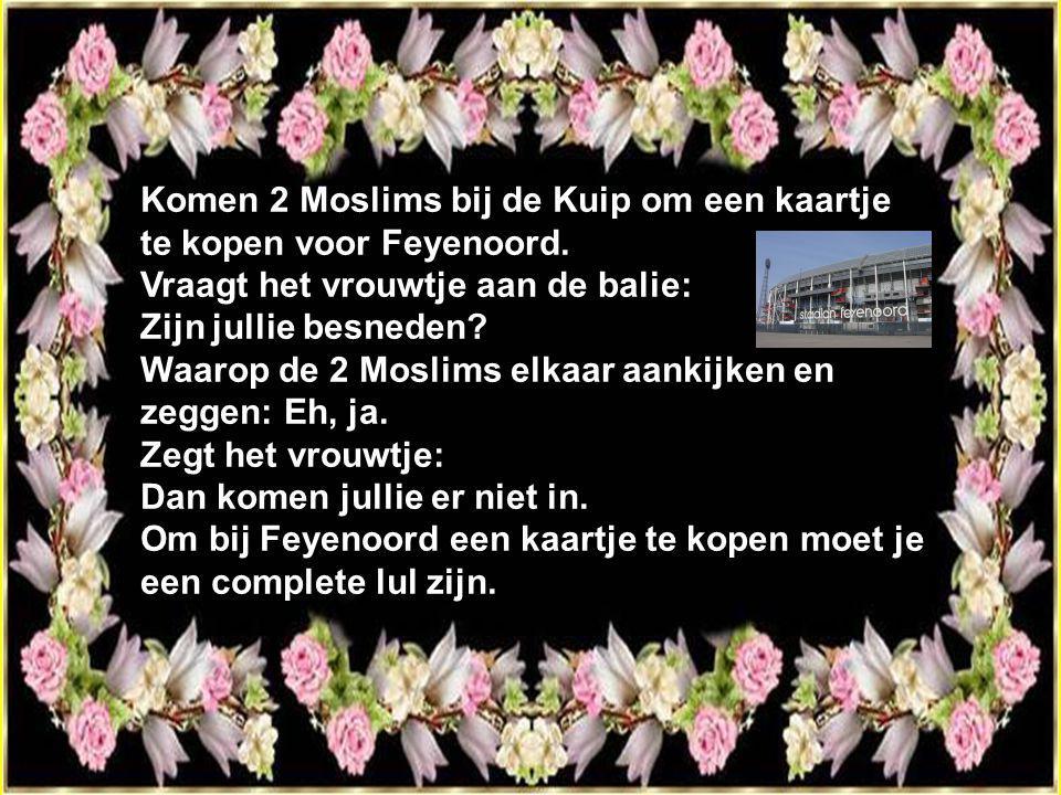 Komen 2 Moslims bij de Kuip om een kaartje te kopen voor Feyenoord