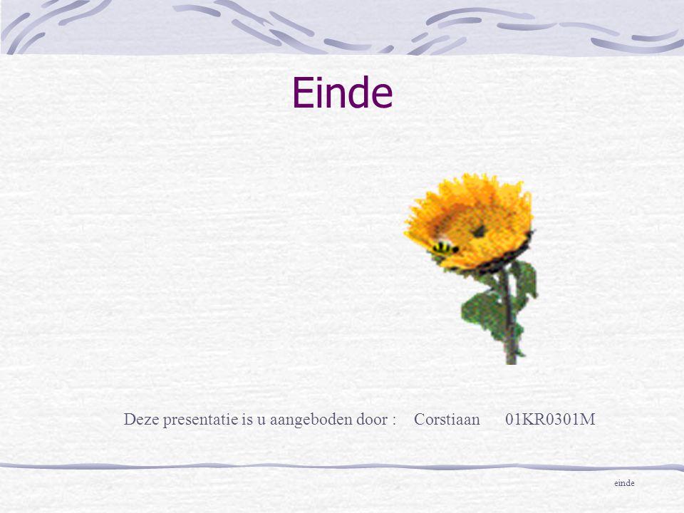 Deze presentatie is u aangeboden door : Corstiaan 01KR0301M