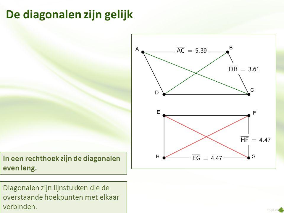 De diagonalen zijn gelijk