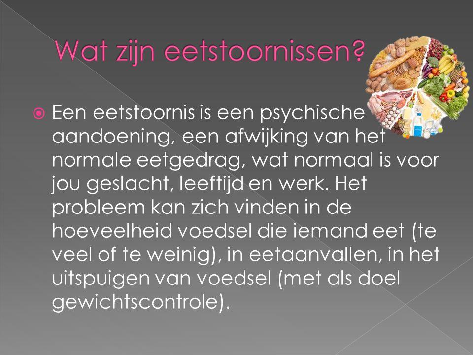 Wat zijn eetstoornissen