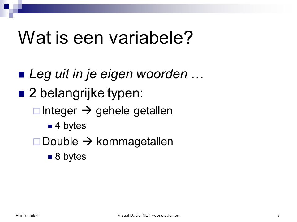 Visual Basic .NET voor studenten
